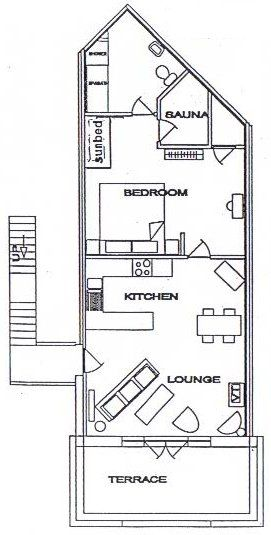 Plan of Commodore Suite